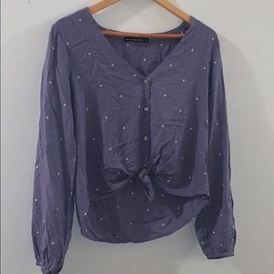 Abercrombie & Fitch Tops - Abercrombie & Fitch tie front polka dot blouse